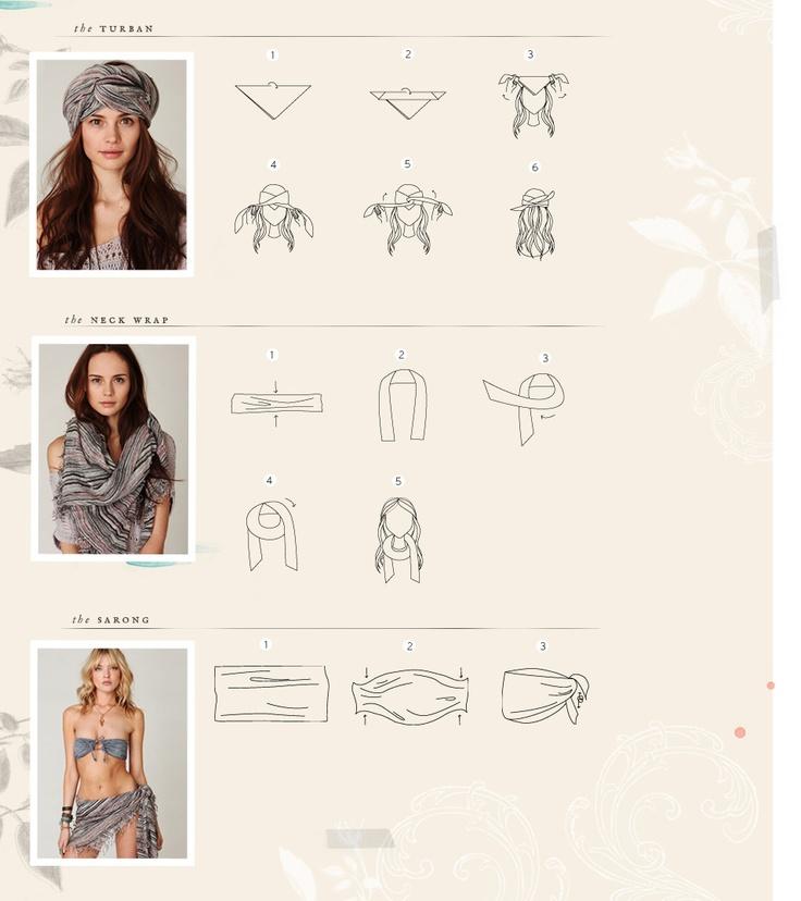 274295d7de86 Comment mettre, porter et nouer un foulard de manière originale