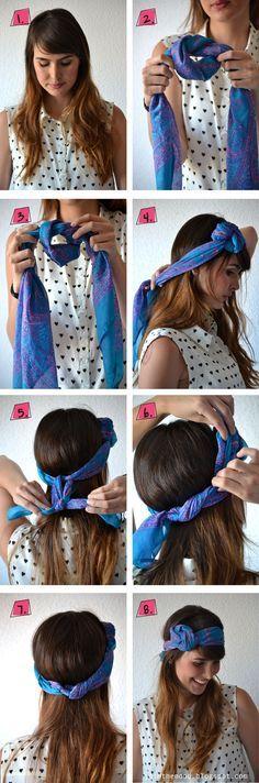 comment faire fleur avec foulard