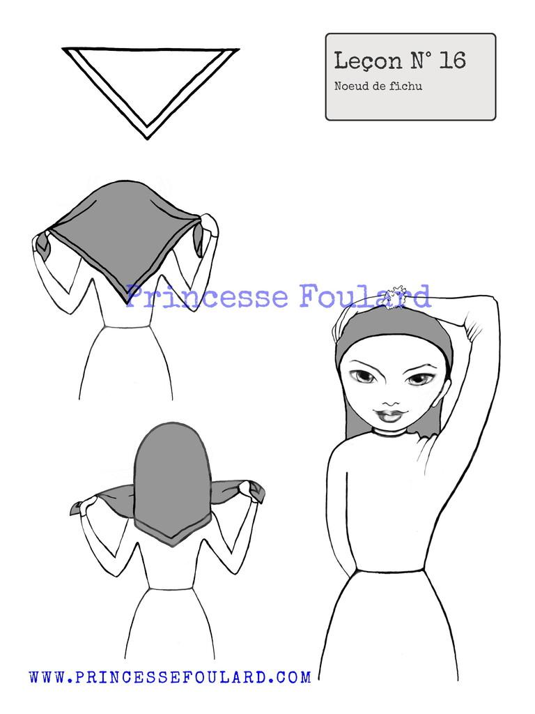 comment nouer son foulard en fichu vintage et r tro sur la t te. Black Bedroom Furniture Sets. Home Design Ideas