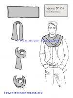 Leçon numéro 29 : Nœud de pashmina pour homme