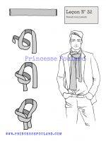 Leçon numéro 32 : Nœud de foulard coulissant pour homme