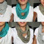 Comment faire un foulard avec un t-shirt en couture ?