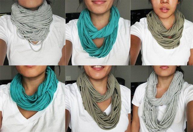 Faire un foulard avec un tee shirt