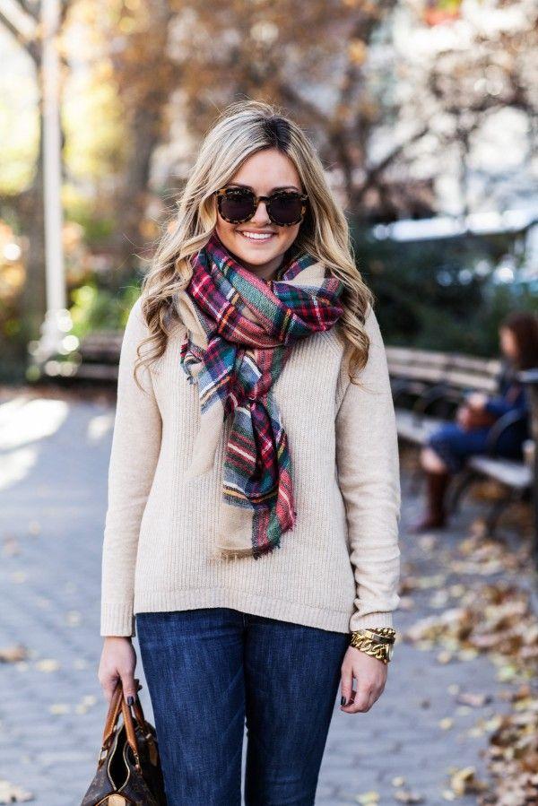 foulard avec sans franges