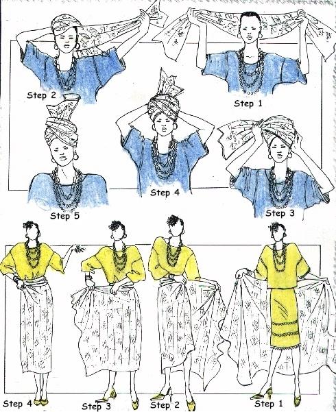 technique nouer foulard africain tete