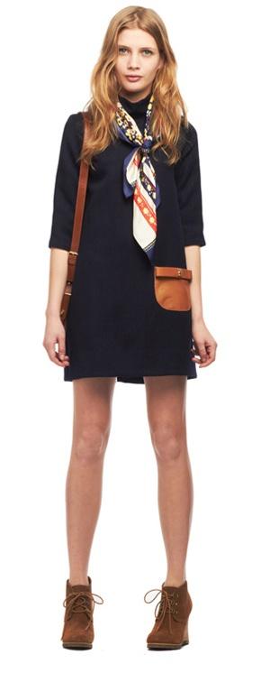 Comment porter nouer mettre une charpe fine ou courte en soie - Nouer une echarpe ...