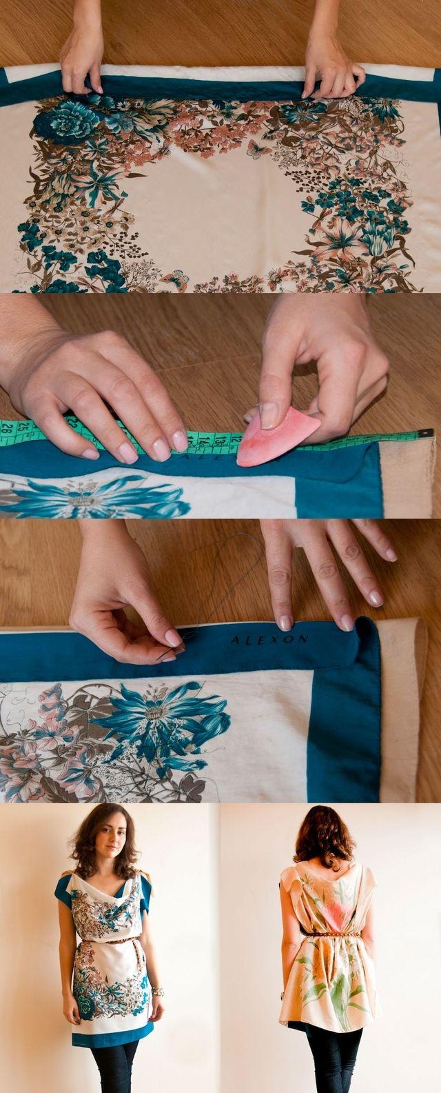 coudre foulard en soie
