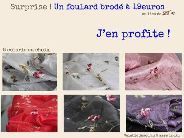 foulard promo prix discount