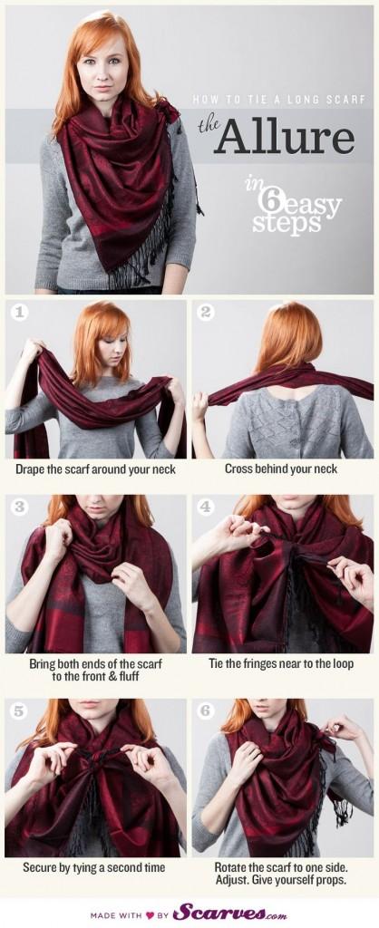 tuto foulard vintage