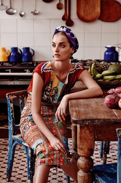 porter foulard vintage