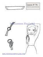 leçon numéro 74 :nœud de foulard en queue de cheval