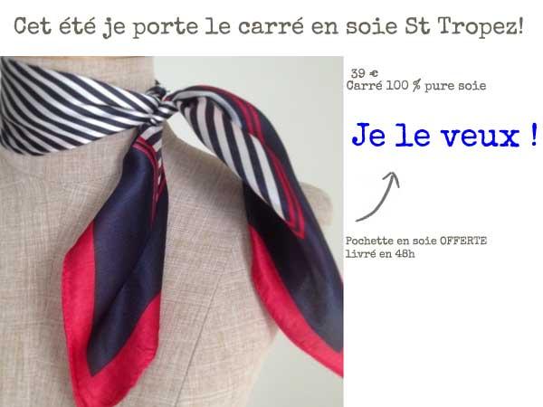 Foulard marin femme. Le petit foulard carré ... 972cdf7c05e
