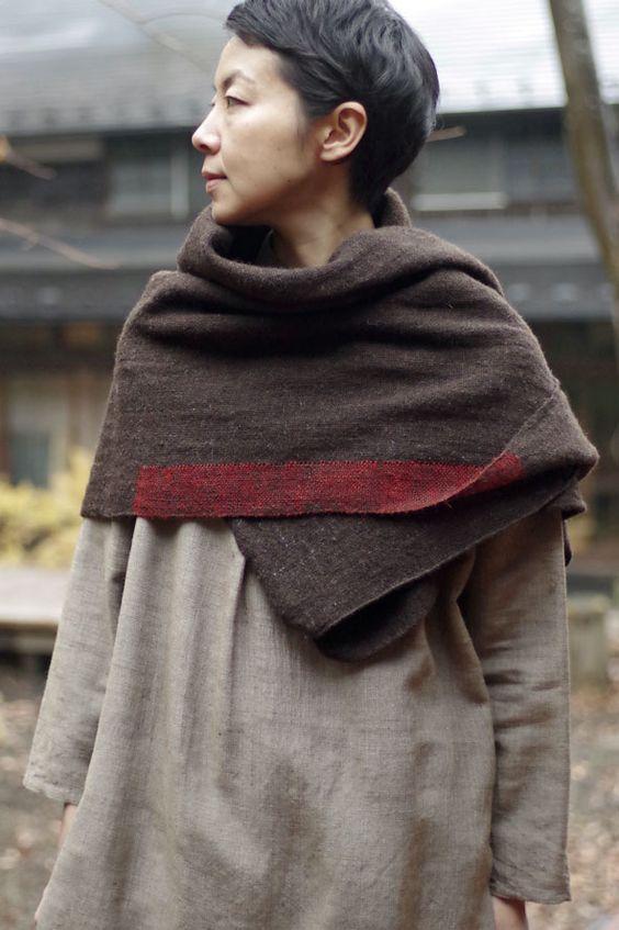 foulard lin naturel
