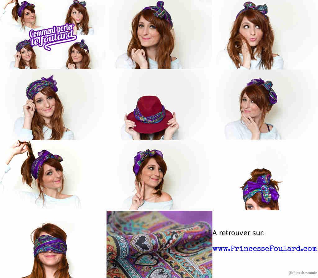 Relativ Mettre, nouer et porter un foulard sur cheveux et autour de la tête DO53