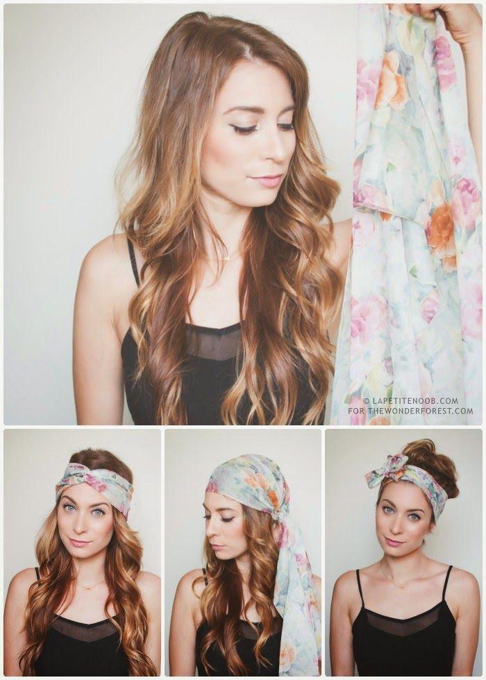 coiffure boheme avec foulard