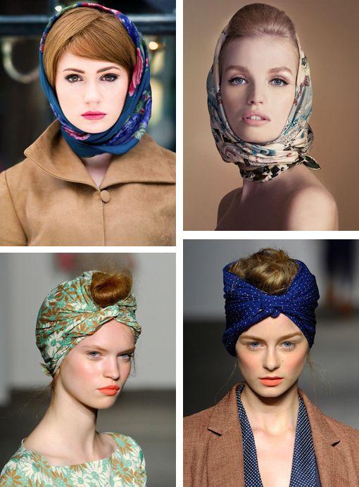 coiffure foulard vintage cheveux