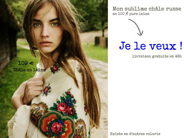 foulard vintage russe