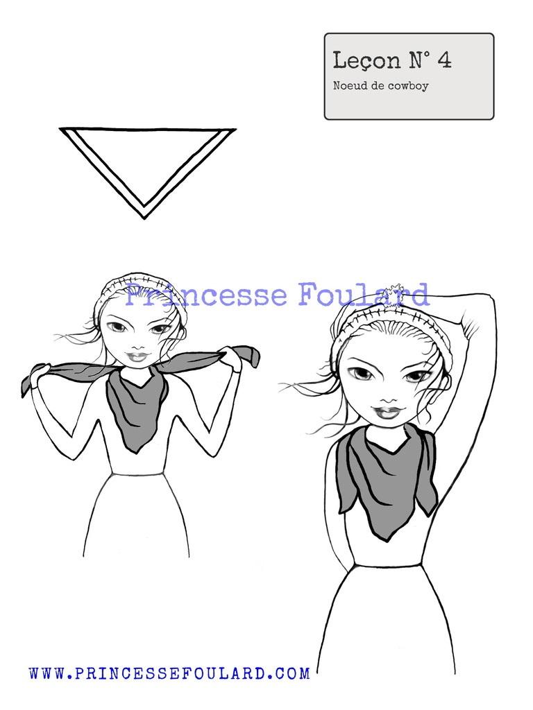 comment nouer mettre et porter un foulard autour du cou. Black Bedroom Furniture Sets. Home Design Ideas