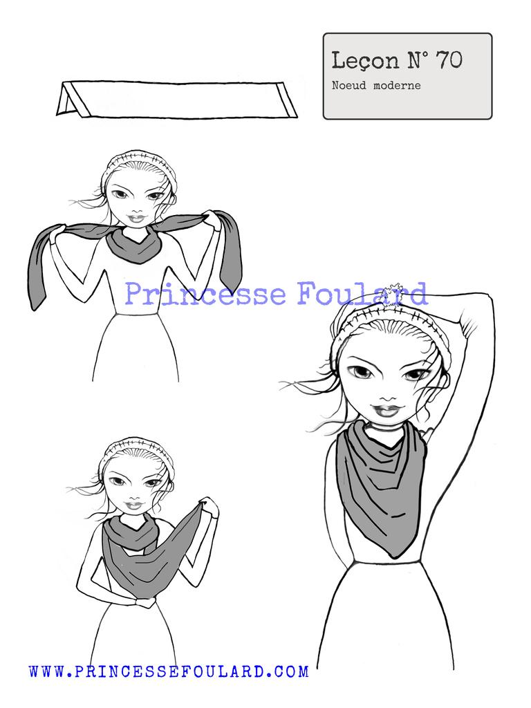 Tuto noeud de foulard moderne http://www.princessefoulard.com