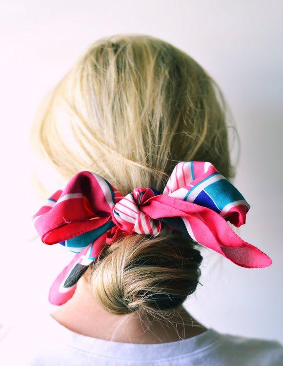 foulard cheveux chignon