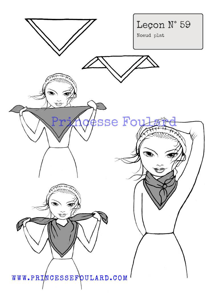 79b355bf9c6 Comment faire un noeud plat avec un foulard