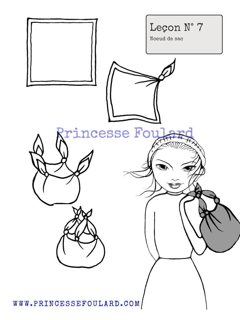 Tuto: Noeud de foulard en sac