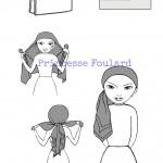 Noeud de foulard style bohème chic ou d'artiste artistique
