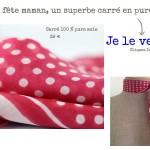 Acheter en ligne un foulard carré en soie pour femme