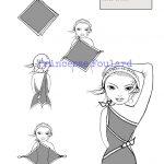 Transformer, nouer et porter un foulard carré en robe longue ou courte