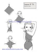 leçon numéro 75 :nœud de foulard en robe
