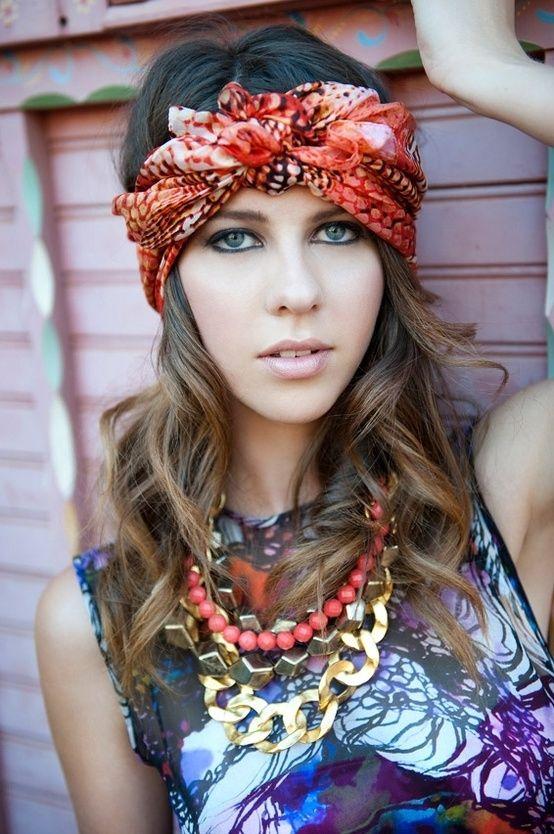 comment porter foulard pour fete