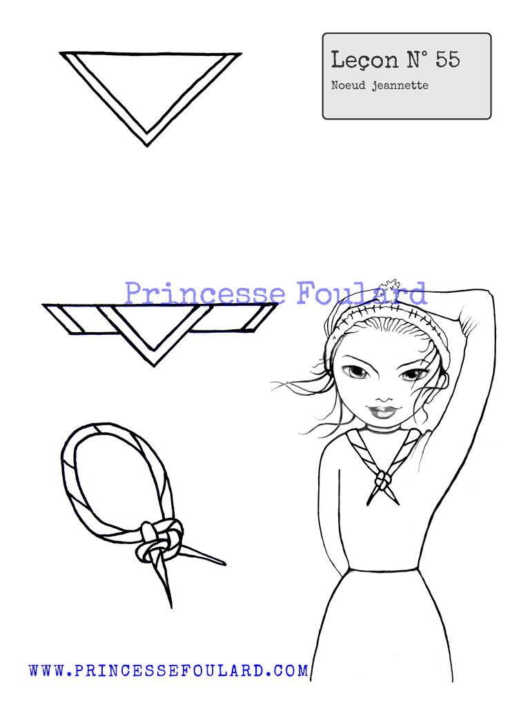 nœud de foulard jeannette