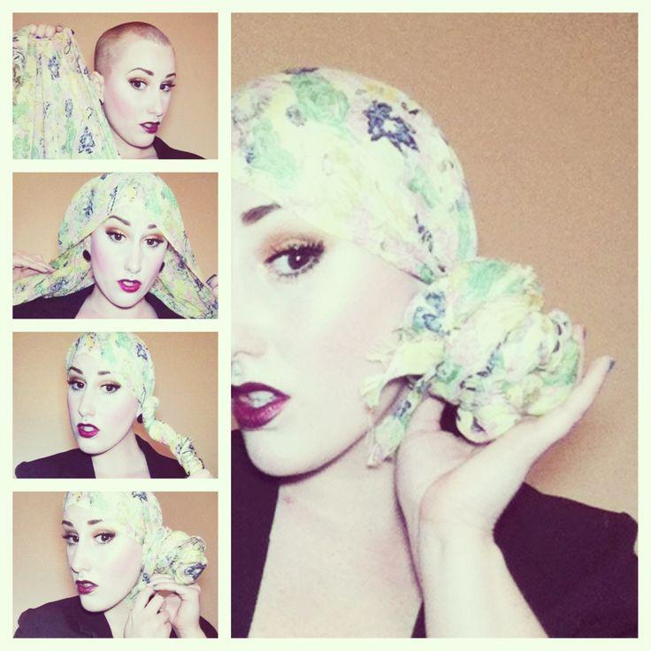 attacher foulard cancer chimio