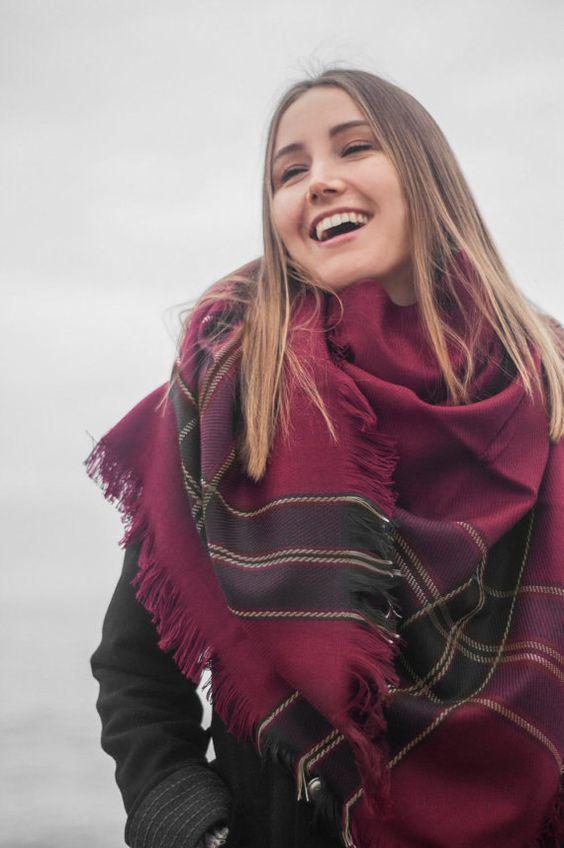 mettre echarpe laine