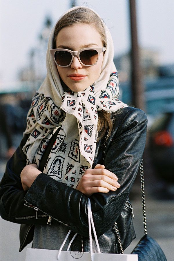 noeud foulard vintage cheveux