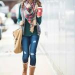porter grosse echarpe laine