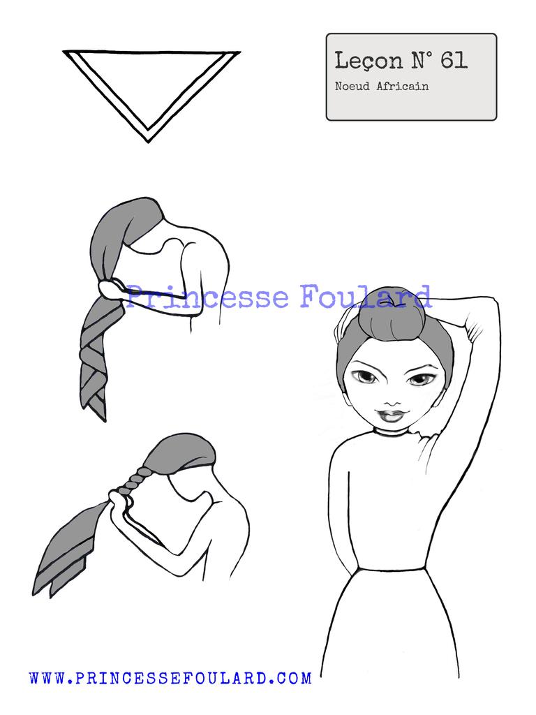 Nœud de foulard africain