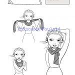 Tuto noeud de foulard de coté