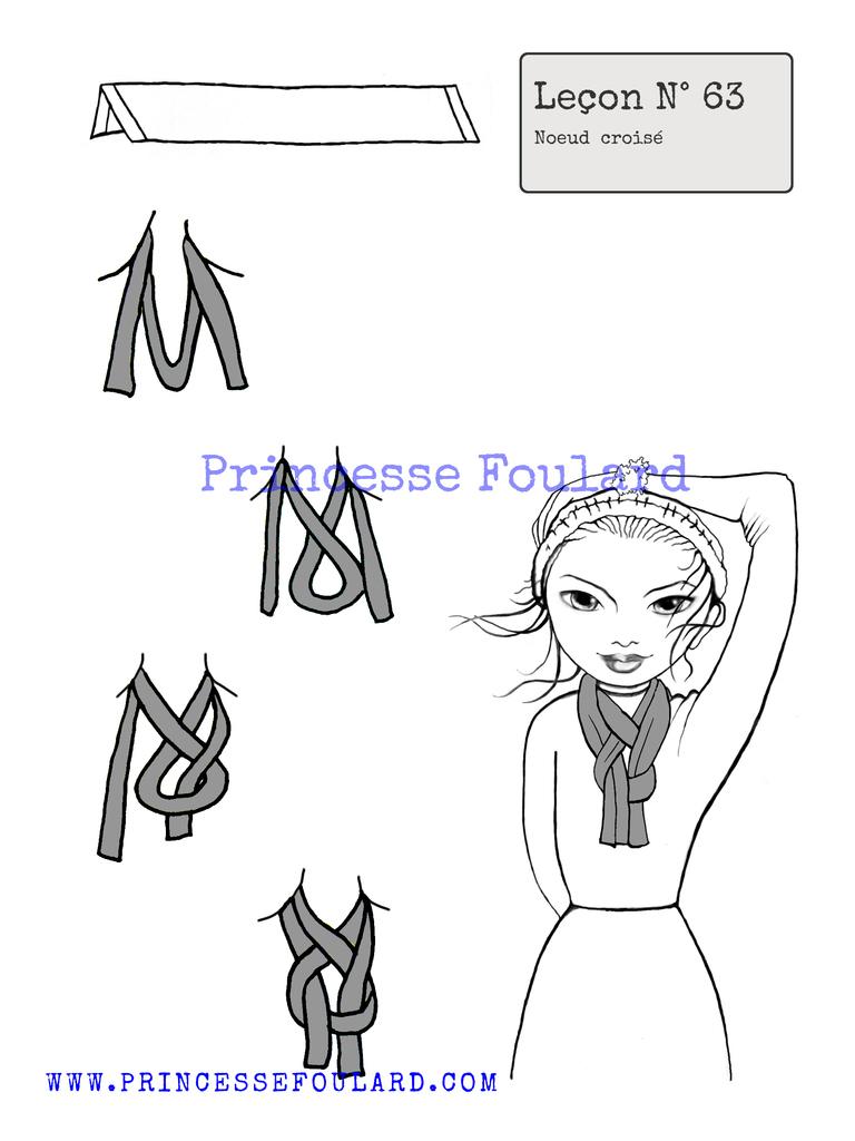 Nœud de foulard croisé
