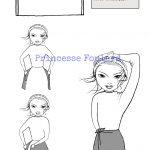 Nœud de foulard en mini jupe