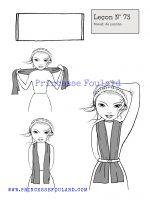 leçon numéro 73 :nœud de foulard en poncho