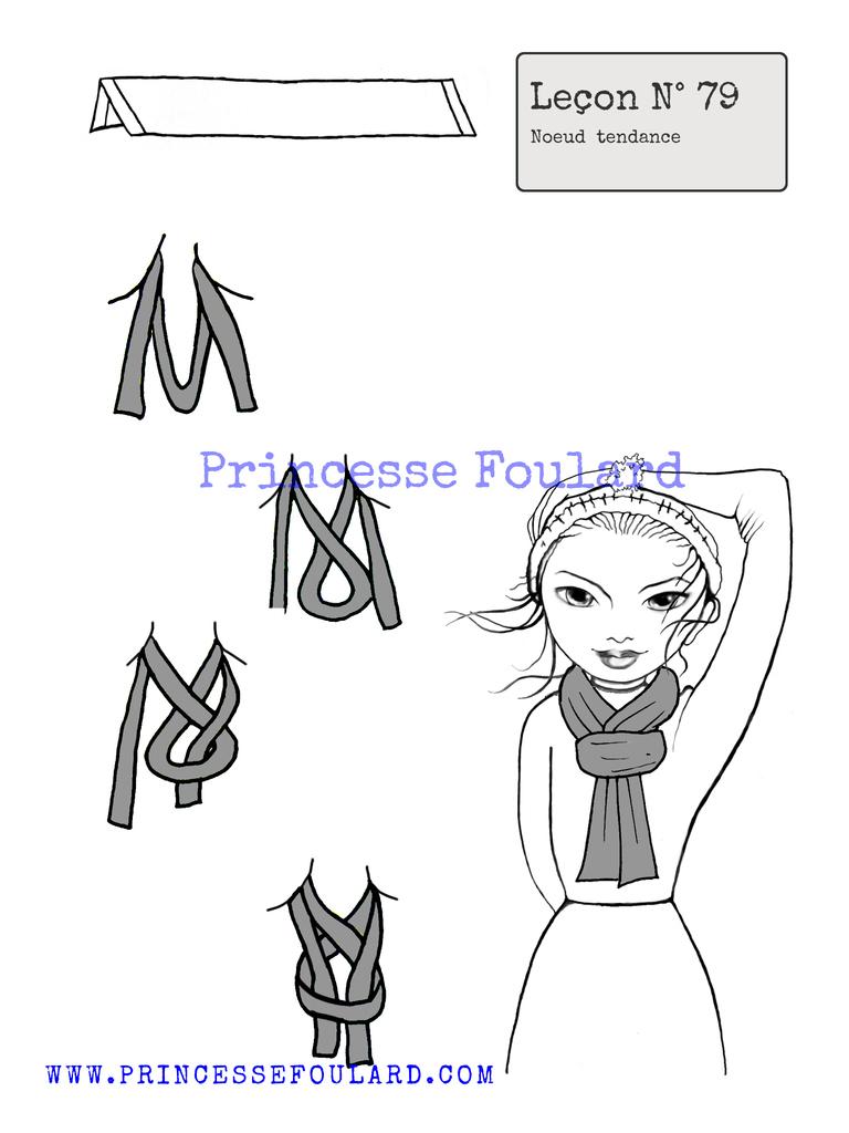 Nœud de foulard tendance