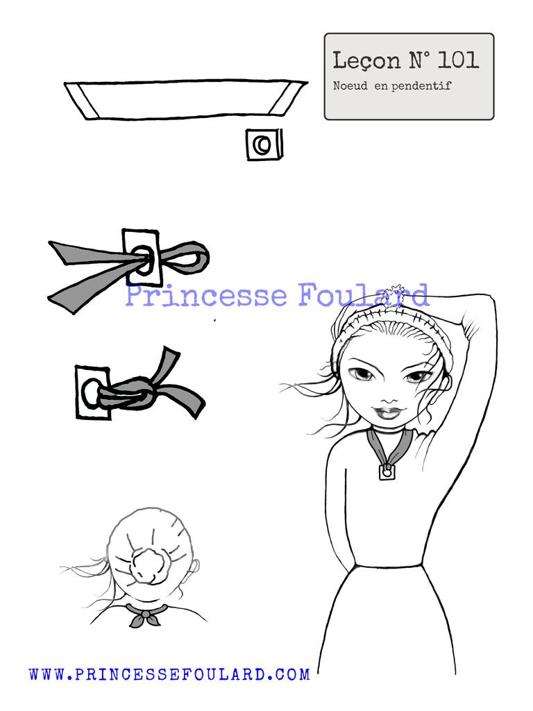 Utiliser son foulard pour accrocher un pendentif