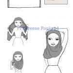 Noeud de foulard Hijab, mettre le voile sans épingles - Tutoriel