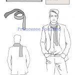 Porter foulard ou écharpe style casual décontracté pour homme