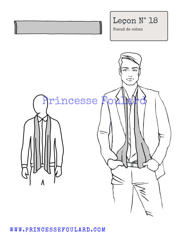 Tuto noeud de foulard pour homme - https://www.princessefoulard.com/