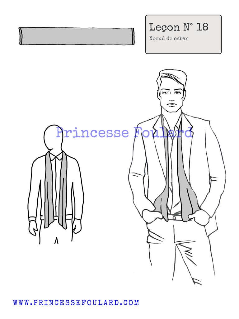 Tuto noeud de foulard pour homme - http://www.princessefoulard.com/