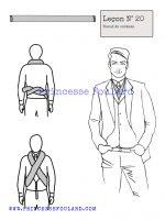 Leçon numéro 20 : Nœud de foulard costume pour homme