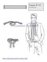 Leçon numéro 22 : Nœud de foulard double pour homme