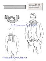 Leçon numéro 23 : Nœud de foulard gentleman pour homme